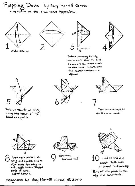 origami dove step by step emuse origami birds