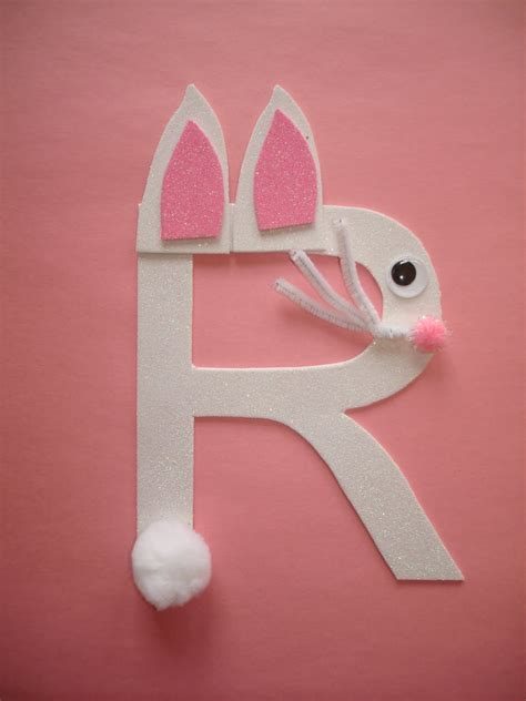 rabbit craft projects play and learn with letter r rabbit
