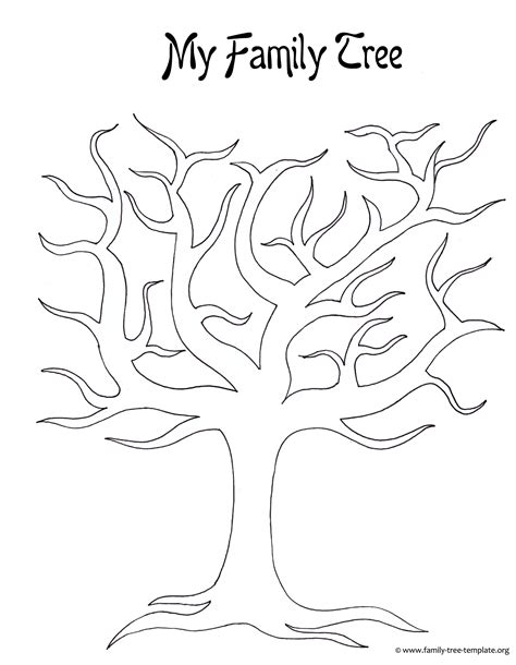 large tree template 7 best images of family tree outline printable printable