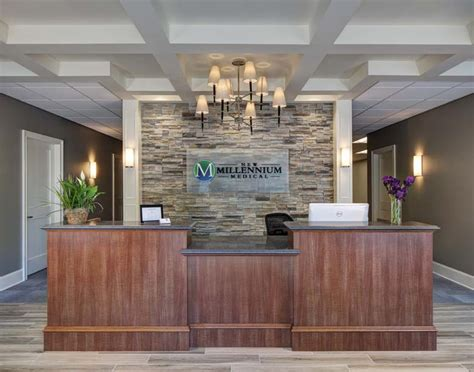 front desk designs for office new millennium chiropractic office design