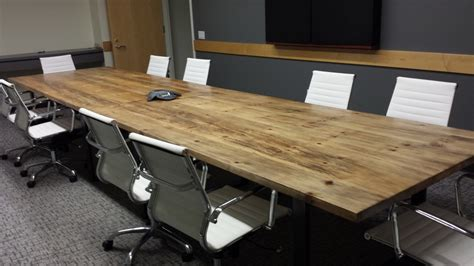 woodworking conference reclaimed wood conference table customizable reclaimed