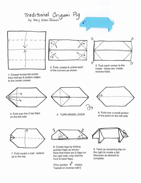 origami pig diagram november 2016 monthly feature origami page origami pig