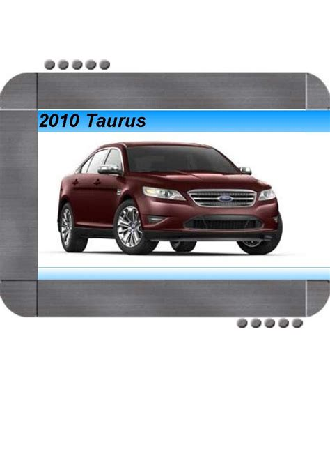how to download repair manuals 2011 ford taurus transmission control ford 2011 taurus owners manual pdf download autos post