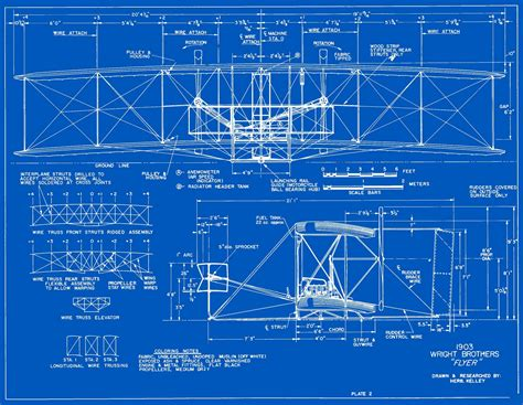 blueprint drawing wright plans blueprints