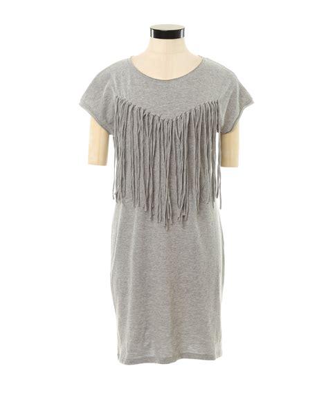 fringe shirt with fringe t shirt dress kismet
