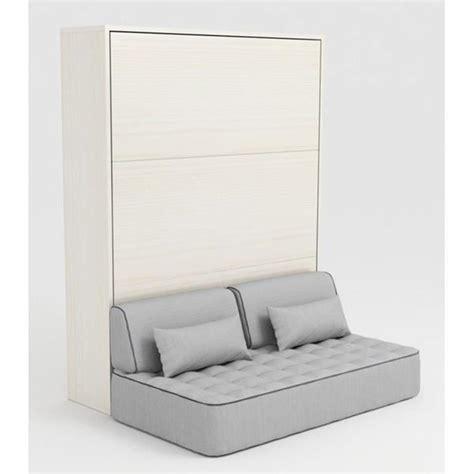 armoire lit escamotable 160x200 blanc canap 233 achat vente lit escamotable pas cher