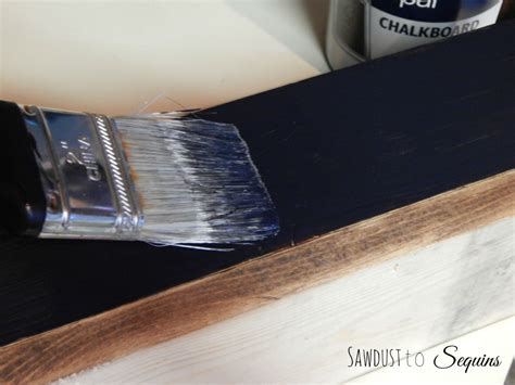 chalkboard paint cure time kitchen beverage box sawdust to sequins