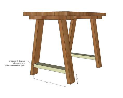woodworking trestles free trestle table plans woodworking woodideas
