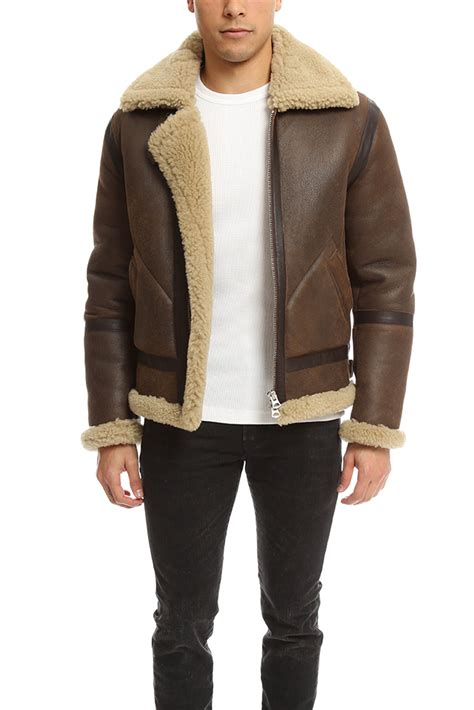 leather and shearling jacket acne studios ian leather shearling jacket in brown for lyst