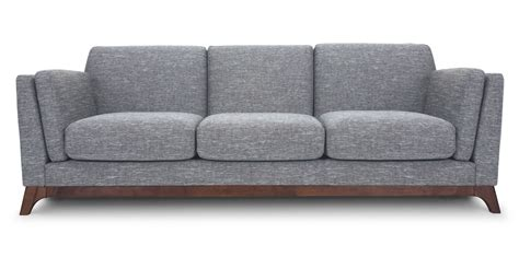 sofa couch gray sofa 3 seater with solid wood legs article ceni