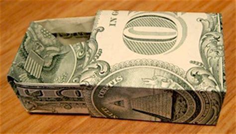 origami dollar bill box creative gift wrap