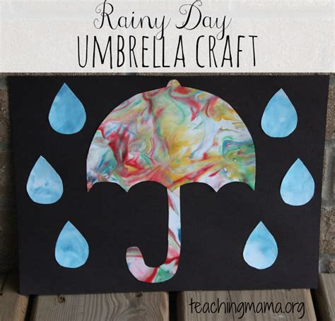 craft activities rainy day umbrella craft