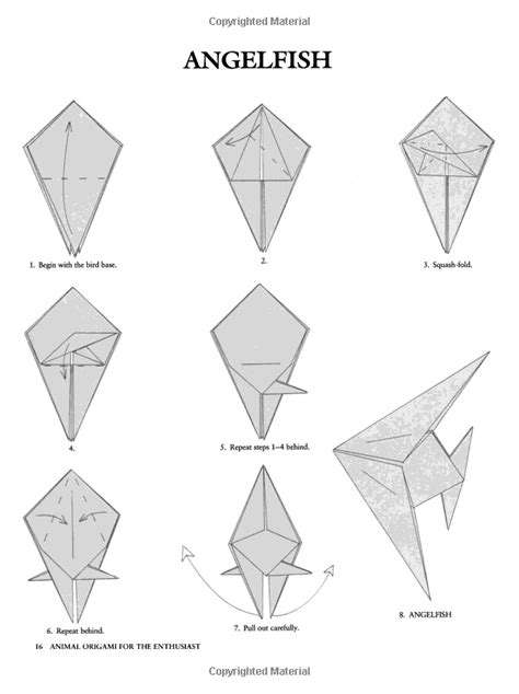 how to make an origami angelfish 24 best origami fish images on origami fish