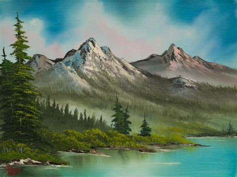bob ross paintings original for sale bob ross peaceful pines paintings bob ross peaceful