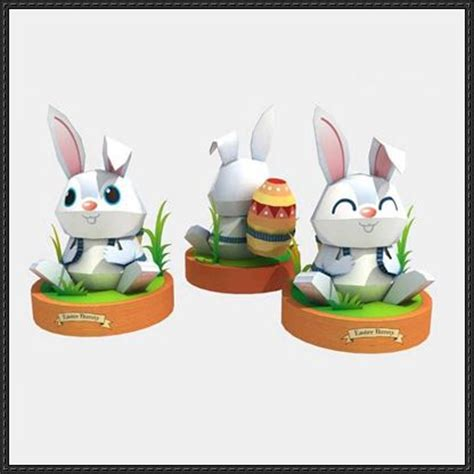 easter paper crafts free easter papercraft easter bunny free template