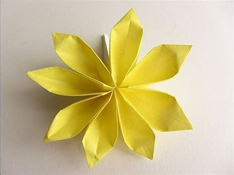 origami petal origami 8 petal flower version 2