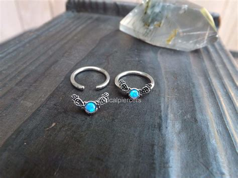captive bead ring removal blue opal captive ring 14g 1 2 quot septum daith