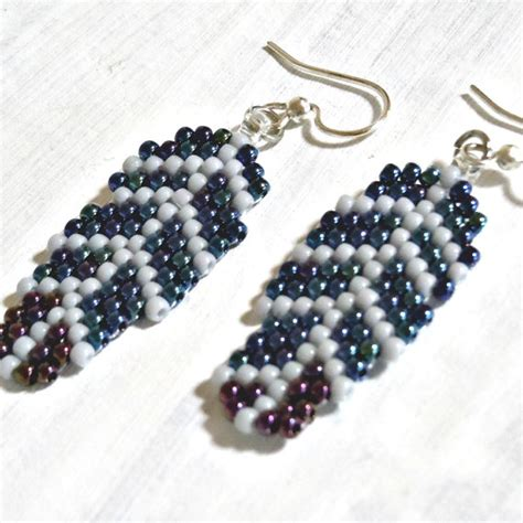 free seed bead earring patterns handmade crafts feather earrings