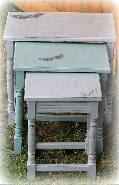chalk paint nest of tables sloan chalk painted distressed by