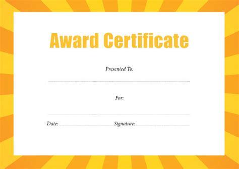 best certificate templates award certificate template 29 download in pdf word