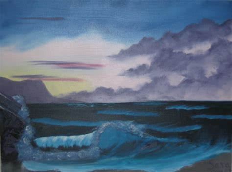 bob ross seascape paintings bob ross style seascape by laughingstockstables on deviantart