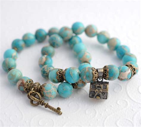 bead stretch bracelet vintage turquoise bracelets beaded charms couples
