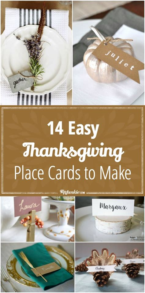 how to make place cards 14 thanksgiving easy place cards to make tip junkie