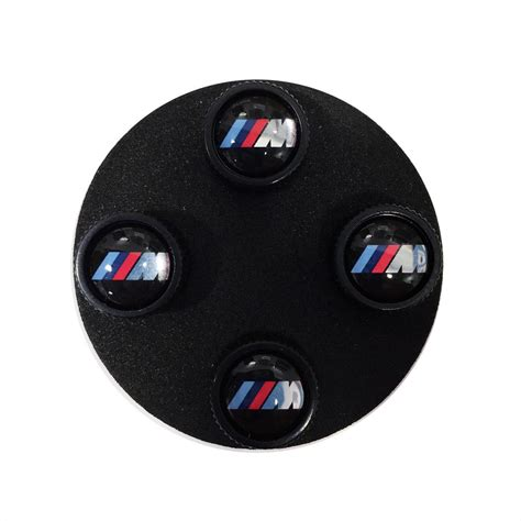 Bmw Valve Stem Caps by Shopbmwusa Bmw M Logo Valve Stem Caps Black