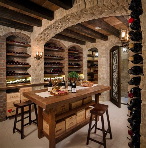 wine dining table tasting room wine cellar contemporary with wood dining