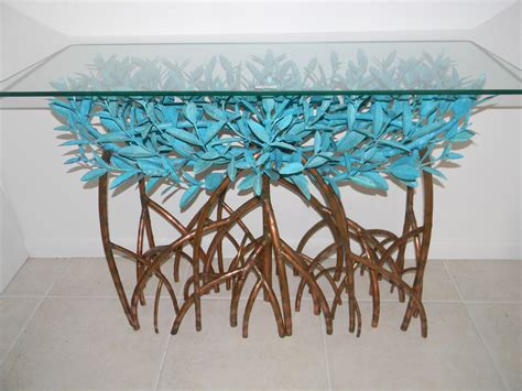 copper sofa table copper mangrove tree sofa table island style galleries