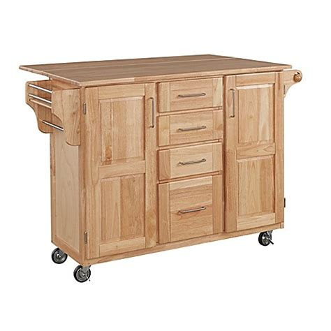 kitchen island cart with breakfast bar home styles wood kitchen cart with breakfast bar bed bath beyond