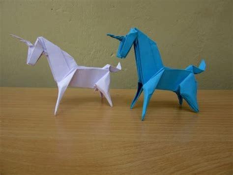 easy origami unicorn how to make a paper unicorn easy tutorials