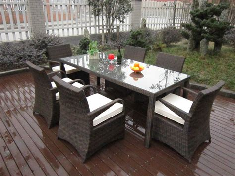 rattan wicker patio furniture rattan garden dining sets washable resin wicker patio