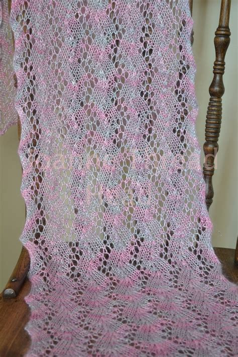 lace scarf patterns knitted free thread a knitting finish