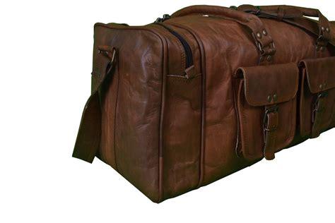 leather duffle bag mens 20 inch men s leather duffle bag mens weekender bag