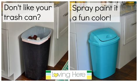 spray paint on trash can a trash can plan painting our cheap plastic kitchen
