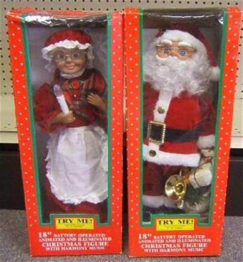 animated mr and mrs claus animated mr and mrs claus new in box 587117