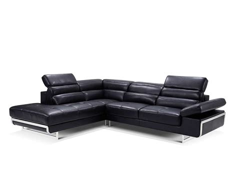 modern leather sectional sofas modern black leather sectional sofa ef347 leather sectionals