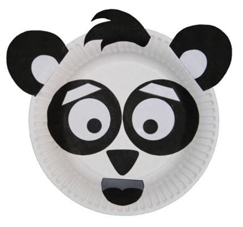 panda paper plate craft pandas crafts for plates ideas paper plates crafts