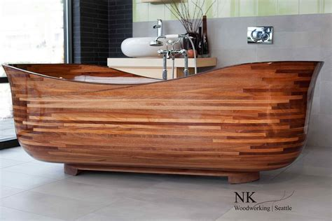 woodwork seattle wooden bathtubs a delight for the senses and your home decor