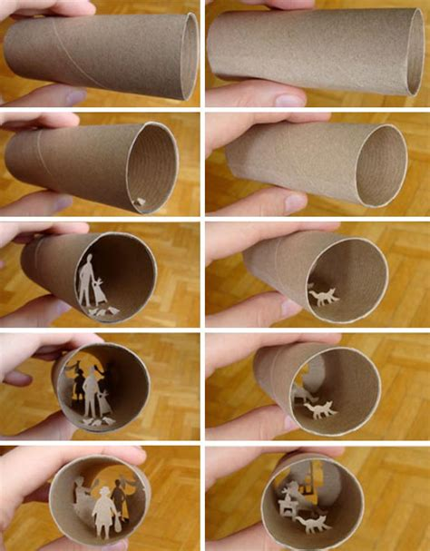 craft out of toilet paper roll collages crafted inside of tiny toilet paper rolls
