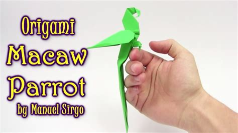 origami macaw parrot step by step origami macaw parrot by manuel sirgo c 243 mo hacer origami
