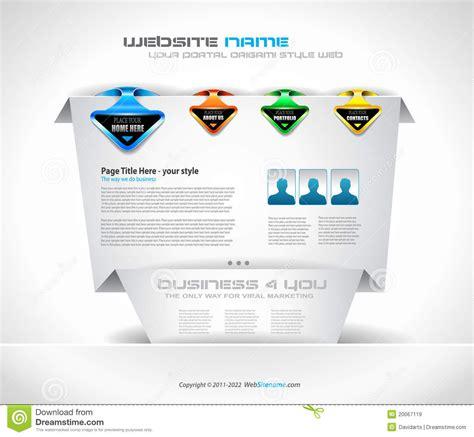 origami website origami website design royalty free stock images