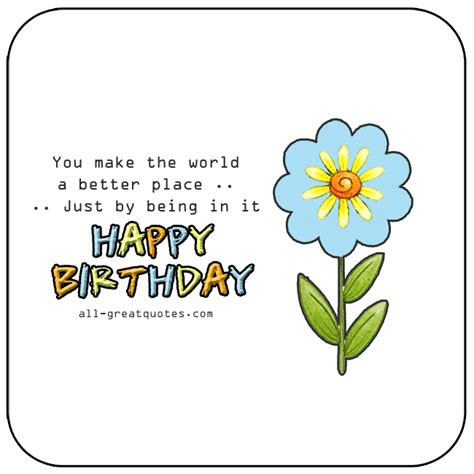 you make the card you make the world a better place just by being in it