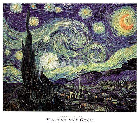 picasso paintings starry the starry c 1889 print by vincent