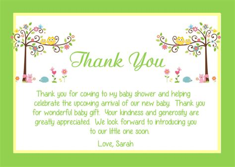 Message For Baby Shower Thank You Cards by Baby Shower Thank You Card Wording Ideas All Things Baby