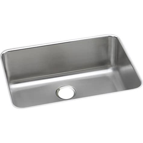elkay stainless steel kitchen sinks shop elkay gourmet 18 5 in x 26 5 in single basin