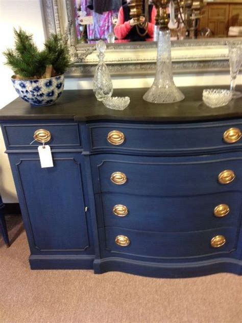 chalkboard paint navy blue lovely painted buffet found in antique store today