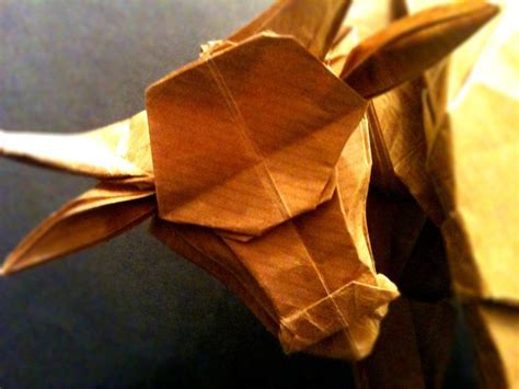 origami bison origami water buffalo up by mrchrizpy on deviantart