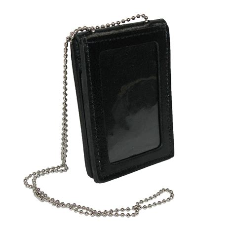 leather id card holder leather deluxe id and badge holder wallet by boston leather wallet accessories wallets